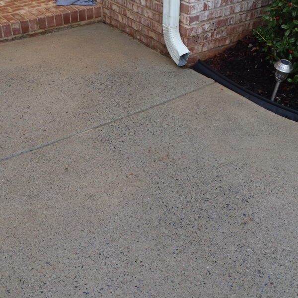 Front walkway after power washing