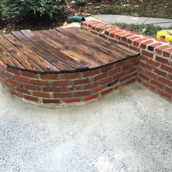Deck Power washed after